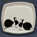 Dutch Rabbits Square Pin Dish