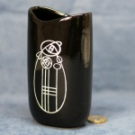 Tall Oval Vase Black