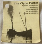 Clyde Puffer Label