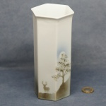 Large Hexagonal Vase Stag 1