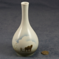 Round Bud Vase Horses and Plough