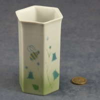 Small Hexagonal Vase Harebell and Bee