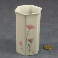 Small Hexagonal Vase Carnations