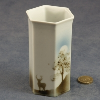 Small Hexagonal Vase Stag