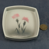 Square Pin Dish Carnations