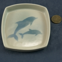 Square Pin Dish Dolphins