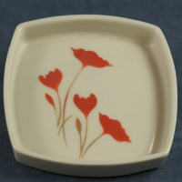Square Pin Dish Flowers