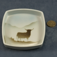 Square Pin Dish Highland Cow