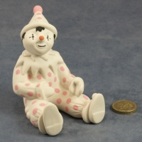 Large Clown Sitting Pink Dots
