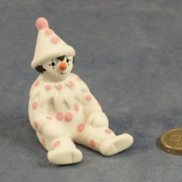 Small Clown Sitting Pink Dots