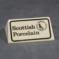 Display Sign – Scottish Porcelain with Backstamp 2