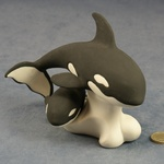 L011 - Large Orca Whale with Baby