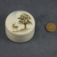 Small Round Lidded Dish - 3 x 6
