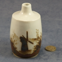 Medium Round Bud Vase Windmill