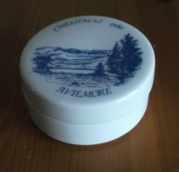 Round Lidded Dish Aviemore Christmas 1986