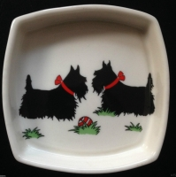 Square Pin Dish Scottie Dogs