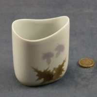 Small Oval Vase Thistle