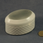 Oval Lidded Pot - Linen
