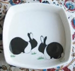 Square Pin Dish Kensington Rabbits