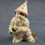 Large Clown Standing Pink Dots with Saxophone