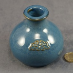 Round Candlestick Celtic Blue