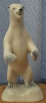 Polar Bear Standing Glazed Finish