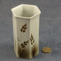 Small Hexagonal Vase Grasses