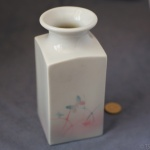 Large Square Vase Butterflies