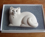 White Cat Broach