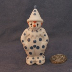 Small Clown Standing Blue Dots