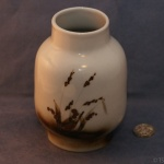 Large Round Vase Grasses