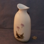 Tall Oval Bud Vase Thistle