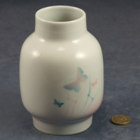 Large Round Vase Butterflies