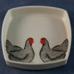 Square Pin Dish Hens