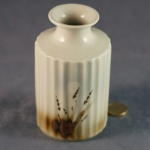 Round Fluted Vase Grasses