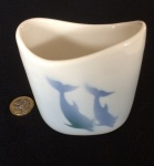 Small Oval Vase Dolphins