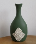 Oval Celtic Vase Green