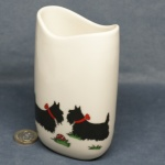 Tall Oval Vase Scottie Dogs