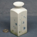 Medium Square Vase Harebell Green