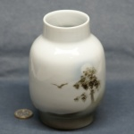 Large Round Vase Tree and Bird