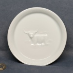 Round Plate Highland Cow