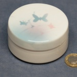 Round Lidded Dish Butterflies