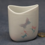 Small Oval Vase Butterflies