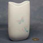 Tall Oval Vase Butterflies