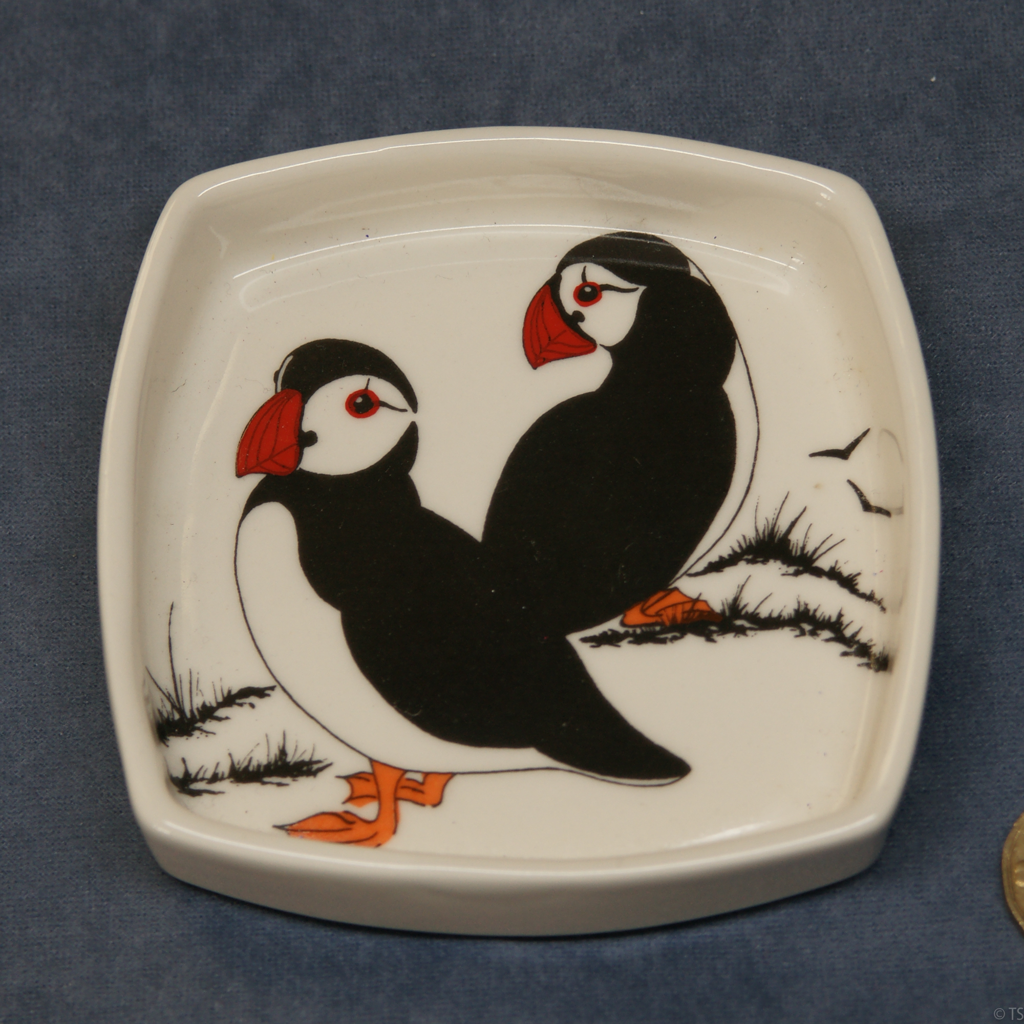 Square Pin Dish Puffins 2