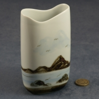 Tall Oval Vase Seascape