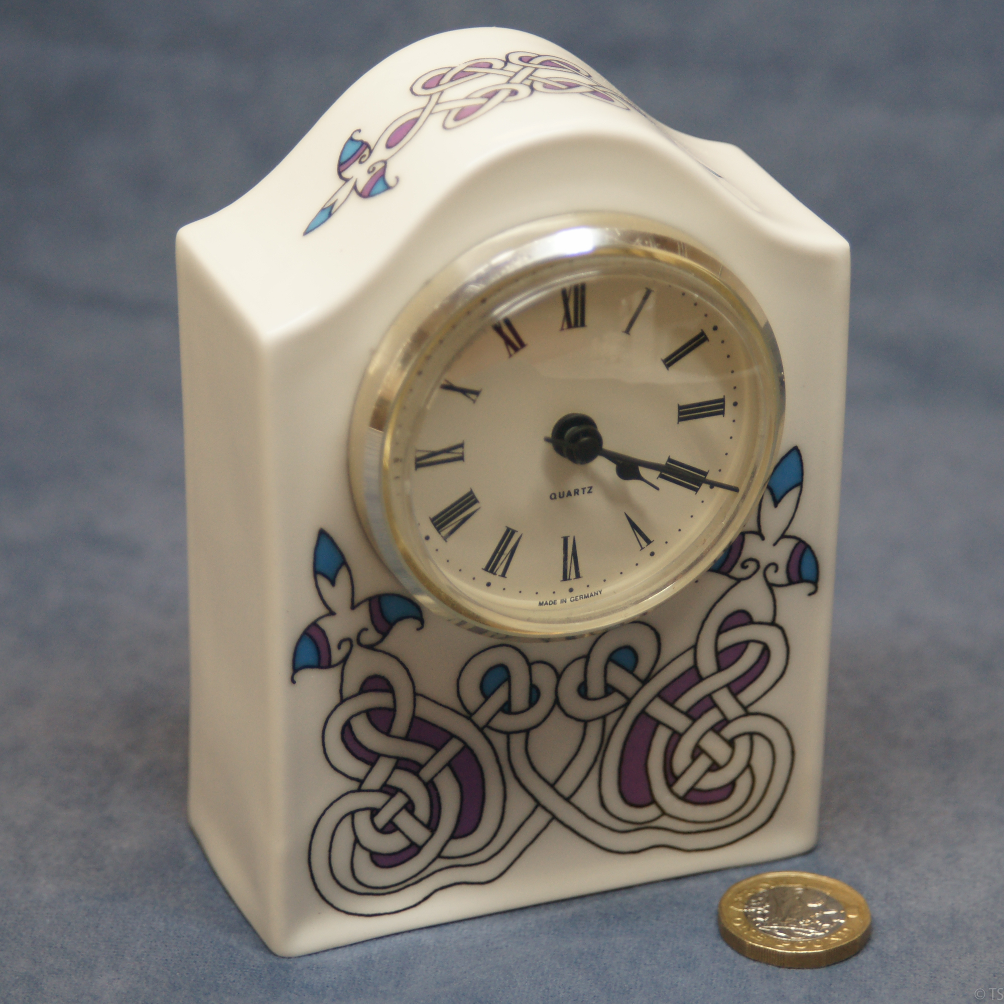 Large Arched Clock Celtic Pattern