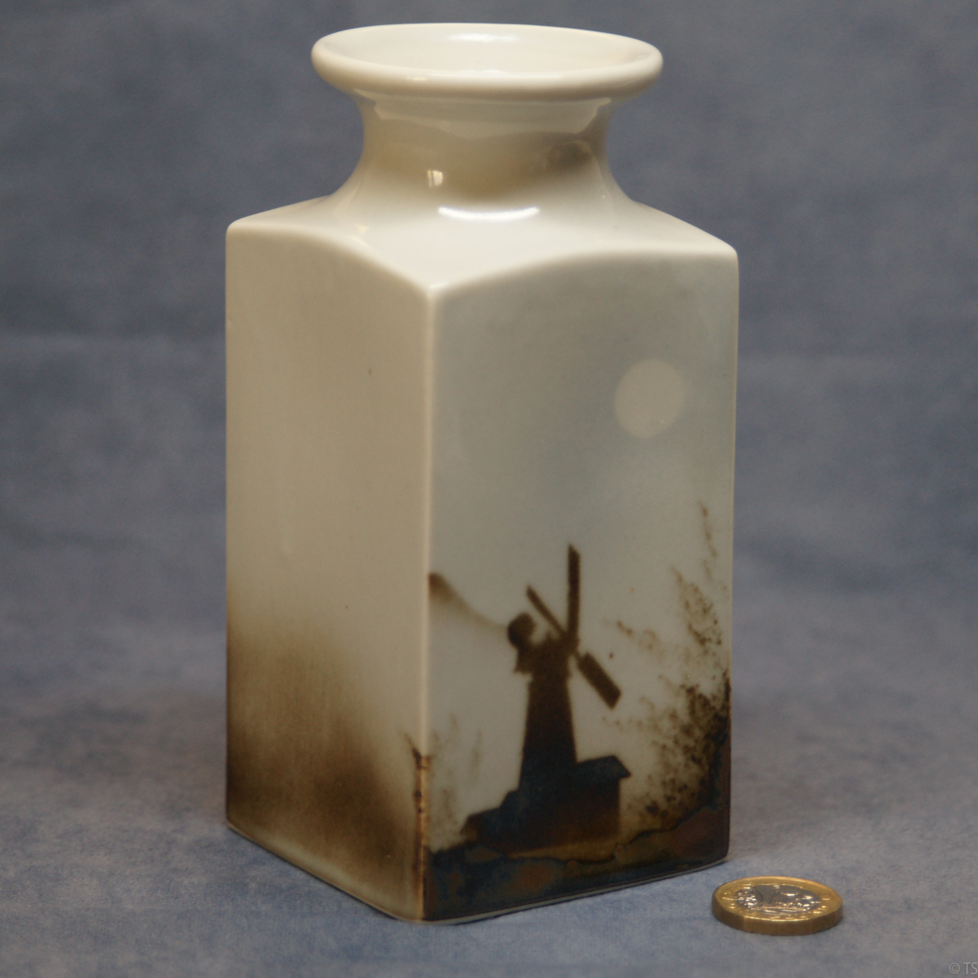 Large Square Vase Windmill
