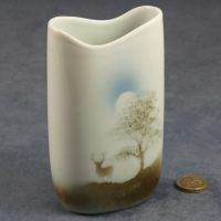 Tall Oval Vase Stag