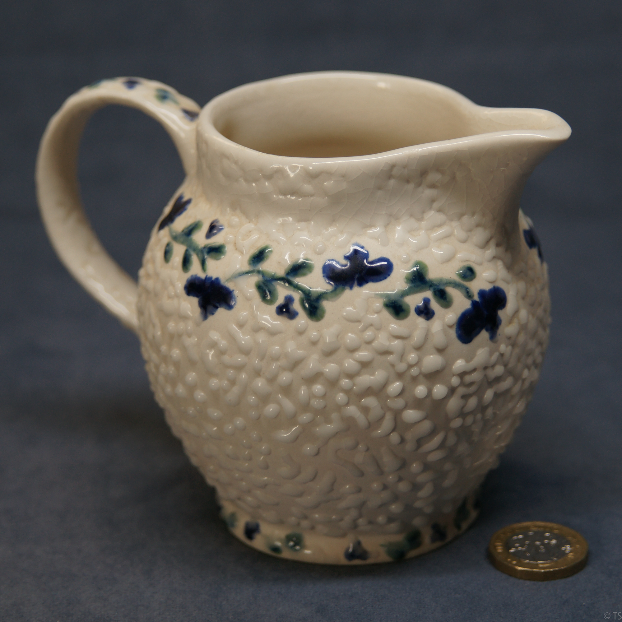 Jug Textured Blue and Green